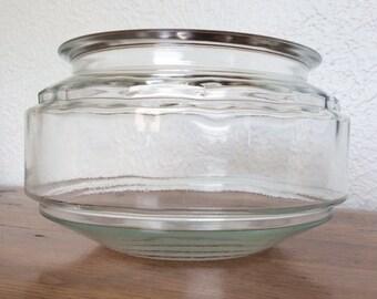 Vintage Glass Aquarium Terrarium Fish Bowl