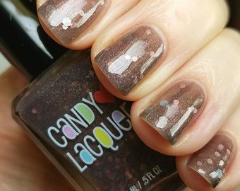 Candy Woods - Fall Into Halloween collection -handmade glitter nail polish