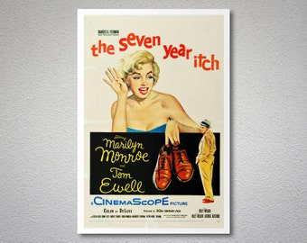 The Seven Year Itch Vintage Movie Poster  - Marilyn Monroe  - Poster Paper, Sticker or Canvas Print