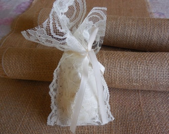 Lace favor bags wedding favor bags ivory lace favor bags jewelry bags gift bags thank you gift bag tea party 20 pieces set