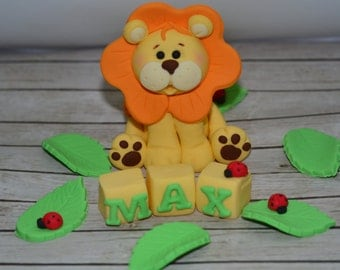 Lion cake topper set
