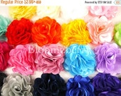 "ON SALE 5% OFF 3"" Silky Satin Mesh Flower  - You Choose Color - 22 Colors Available - Satin Flowers - Hair Accessories Supplies"