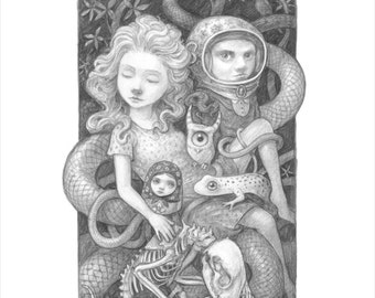 """Thomas Ascott's """"Forest Gathering"""" Print - Signed and Numbered edition of 15"""