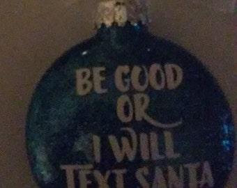 Text Santa Ornament