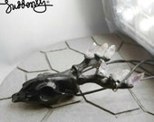 Black Deer Skull Pendant Hand-craft Made of Horn