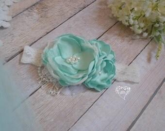 Sweet Mint Headband (made to match my Sweet Mint Dress)