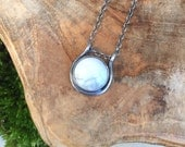 Full Moon Howlite Slider Necklace