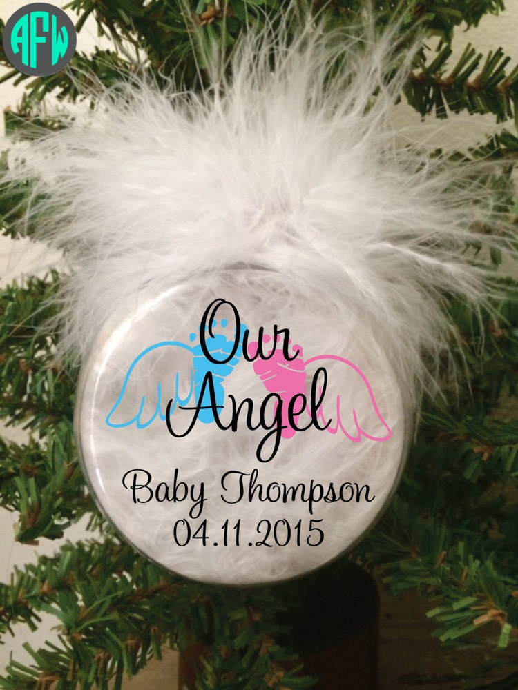 Memorial Ornament Baby Angel Infant Loss By Afwifecreations