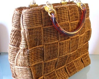 Made in Italy Warren Reed Woven Shoulder Bag