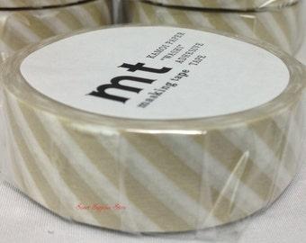 mt 1P Stripe Sand Japanese Washi Tape Masking Tape Deco Tape Paper Tape (MT01D316)