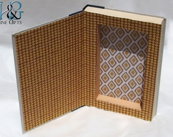 Hollow book safe with magnetic closure in a recycled book The Overton Window by Glen Beck political secret compartment book secret stash