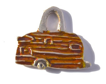 Orange RV Camper Pendant