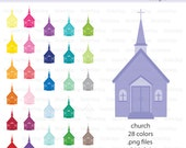 Church Digital Clipart - Instant download PNG files