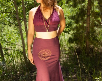 Euro Goddess Isis Festival Skirt for Burning Man, Steampunk, Performance Artists, Amazing Humans Boho Sacred Geometry