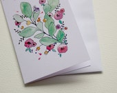 Gift Card - Green Pink Floral