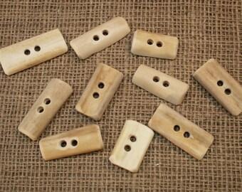 Natural Deer bone Toggles/Buttons