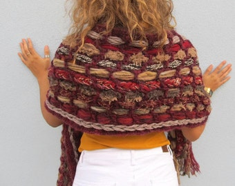 Cozy Warm Winter SCARF Hippie Boho Woman Winter Accessories For Her