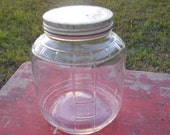 Vintage Glass Jar Kitchen Storage Farmhouse Country Cottage Chic