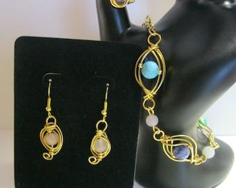 Wire Wrapped Jewelry Set