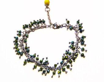 Multi Bead Bracelet, Stainless Steel Bead Bracelet