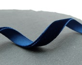 Navy Blue Velvet Ribbon 9mm Wide Berisfords Per Metre