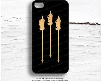 iPhone 6S GOLD Metallic Arrows Case iPhone 6 Gold Case iPhone 5S Feather Case iPhone 5C Case Gold iPhone 6 Case Tough iPhone 6s Case M41