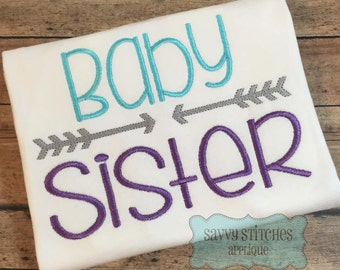 Baby Sister Machine Embroidery Design