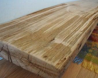 "Reclaimed Fireplace Mantel Shelf 87"" x 10"" x 3"" - Rustic Distressed Beach Barn Beam Oak Wood  Barnwood  Mantle"
