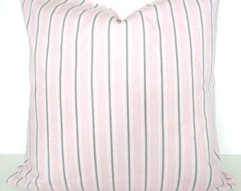 PINK THROW PILLOWS Baby Pink Pillows Pink Pillow Covers 18x18 16 20 Gray Baby Pink Pillow Covers Grey baby Girl Nursery Baby Bedding