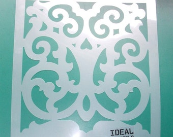 Moroccan quatrefoil pattern stencil decor stencil painting - Pochoir mural a peindre ...