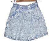 Vintage 80's denim chic jean shorts