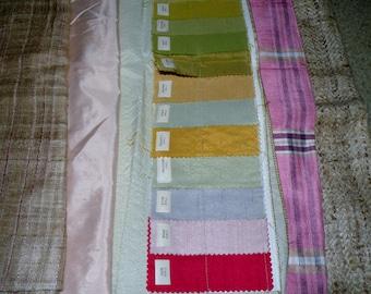 Vtg Designer Silk Fabric Lot to include JHURI silk
