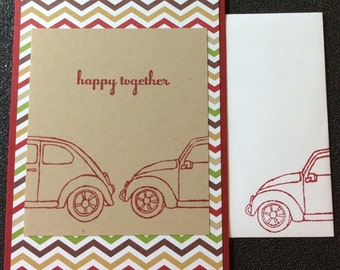 Love, Anniversary, Marriage, Volkswagen, Car, Together, Handmade, stampin up