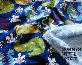 Knight Dragon Baby Blanket Made To Order
