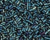 3mm Matte Metallic Patina Iris Miyuki Bugle Beads -  10 grams - 2788 - 3mm Bugle Beads - Miyuki Patina Iris 3mm #1 Bugle Beads - Color 2008