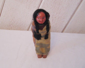Native American doll, Skookum doll, Indian woman and baby, collectible doll, antique doll