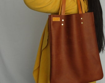 free shipping. Dark Brown leather bag, brown leather tote, brown leather bag