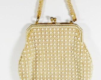 Vintage Made in Hong Kong Beaded Baguette Handbag