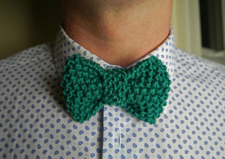 Dapper Vintage Bow Tie Knitting Pattern