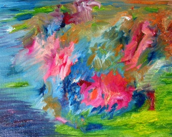 Original oil painting Abstract oil painting Expressionist oil painting Expressionist art 6.3x8.7 in