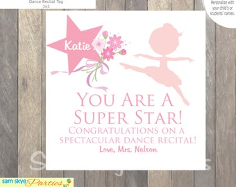 Dance Recital Gift Tags, Dance Class Gift Tags, Treat Labels, End of Year gifts, Printable Gift Tags