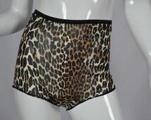Vavoom! Vintage Vanity Fair Leopard Print High Waist Knickers Panties Pillow Tab