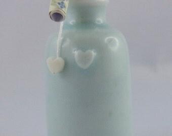 Porcelain wish bottle