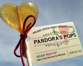 HOLIDAY PEACE POP: 12 Lollipops for holiday stress. Delicious, organic, herbal gift. For home, office, shopping or parties