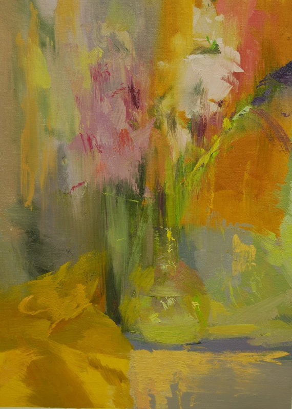 Colorful Abstract Painting Flowers