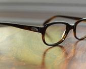 Vintage Christian Dior Brown Horn Rim Eyeglasses NOS 50/20