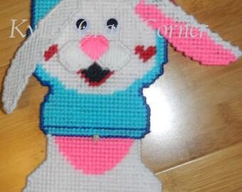 DIGITAL PATTERN: Easter Bunny Hanging Door Greeter Plastic canvas