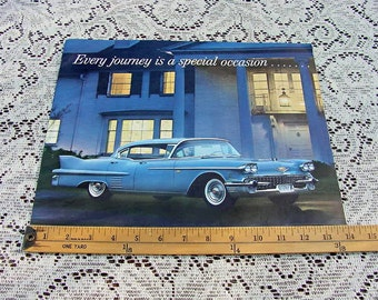 1958 Cadillac Dealer Promotional Catalog, Twelve Pages, Great Graphics, Suitable For Framing