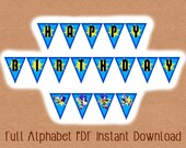 Printable INSTANT DOWNLOAD Video Game Birthday Banner, Video Game Party Banner, Video Game Party, Gamer Birthday Party, Video Game Birthday