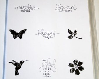 Bloomin Marvelous Rubber Stamp Set retired from Stampin Up